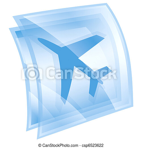 airplane icon blue, isolated on white background. - csp6523622