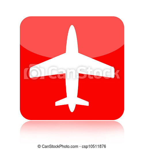 Airplane icon - csp10511876