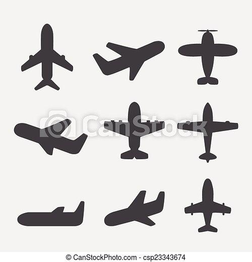 Airplane icons vector - csp23343674