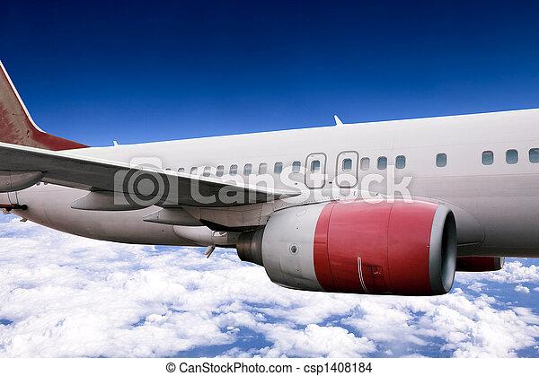 Airplane in Flight - csp1408184