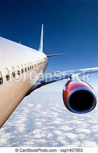 Airplane in Flight - csp1407953
