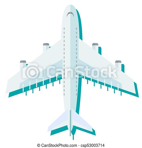 Airplane in the air vector illustration. - csp53003714