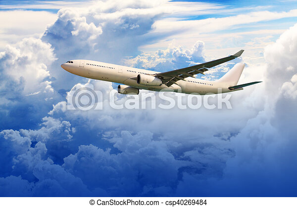 Airplane in the sky - csp40269484