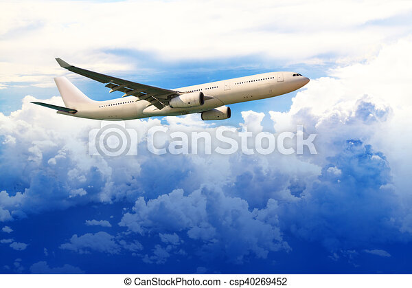 Airplane in the sky - csp40269452