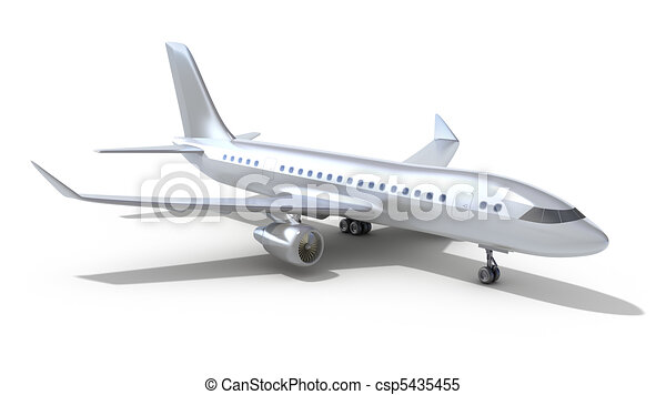 Airplane. Isolated on white - csp5435455