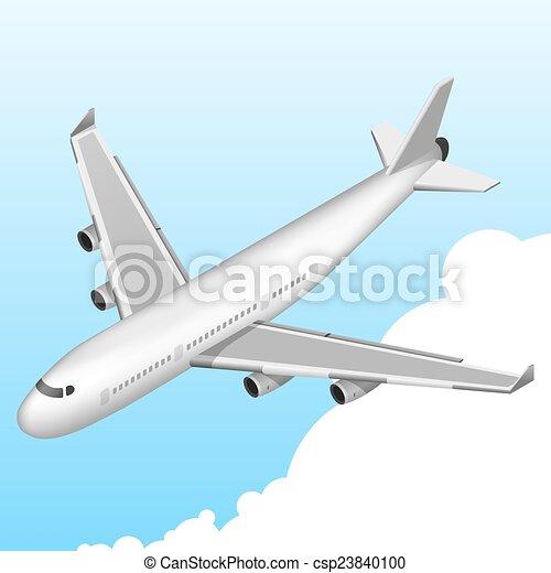 Airplane Isometric Icon - csp23840100