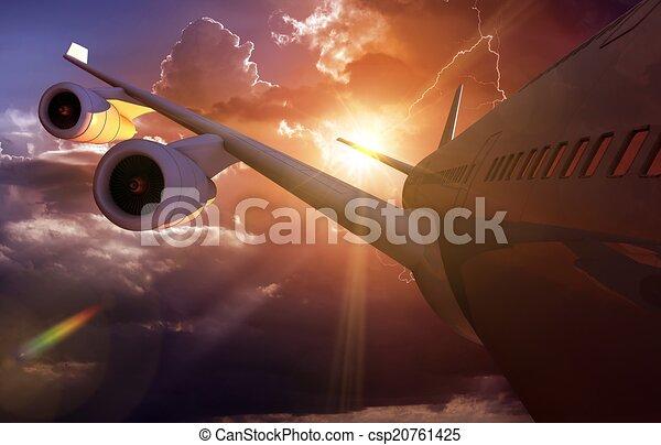 Airplane Journey Air Travel - csp20761425