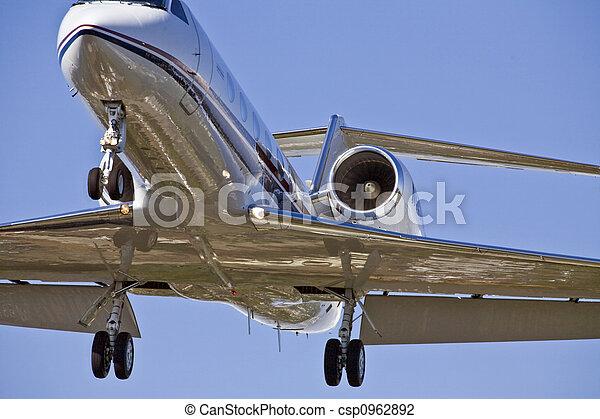 Airplane Landing Approach - csp0962892