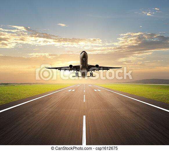 airplane landing - csp1612675