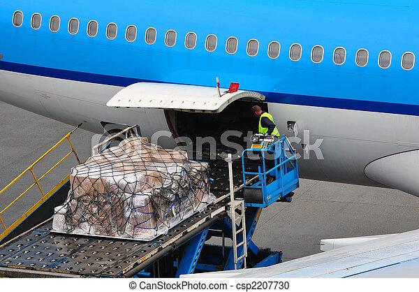 Airplane loading cargo - csp2207730
