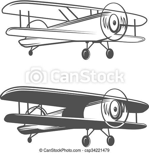 airplane logo plane vector