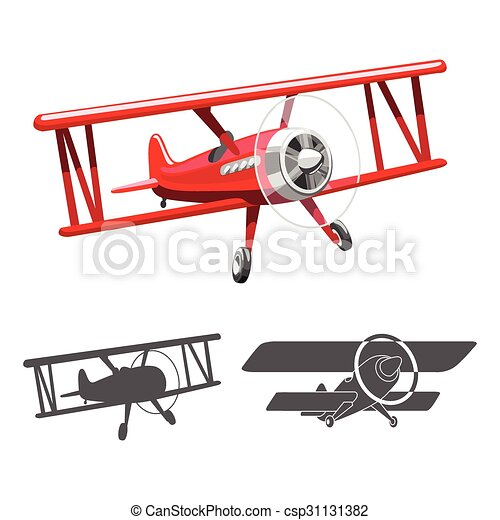 Airplane logo vector illustration - csp31131382