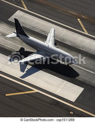 Airplane on runway. - csp1511269