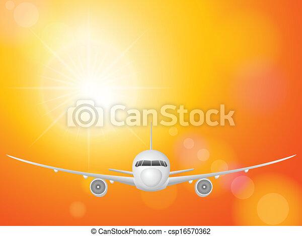 airplane on sky  - csp16570362