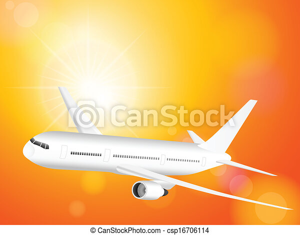 airplane on sky  - csp16706114