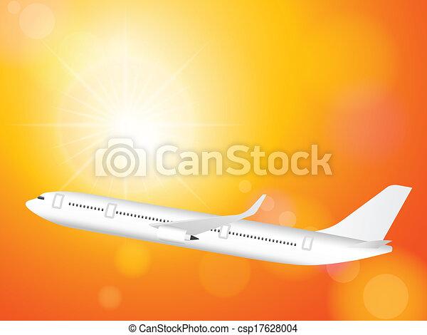 airplane on sky - csp17628004