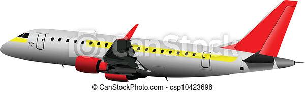 Airplane on the air. Vector illust - csp10423698