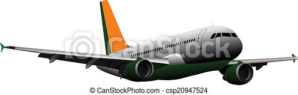 Airplane on the air. Vector illustr - csp20947524