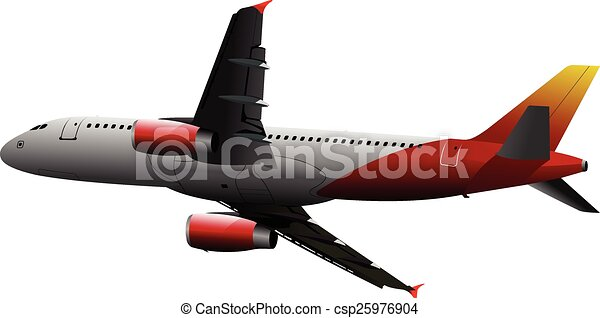Airplane on the air. Vector illustr - csp25976904