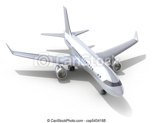 Airplane on white background - csp5434168