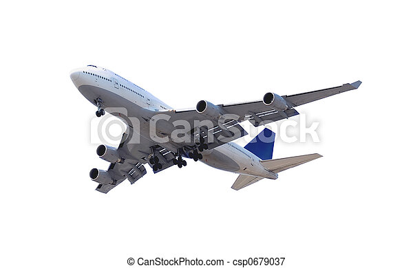 Airplane on white - csp0679037