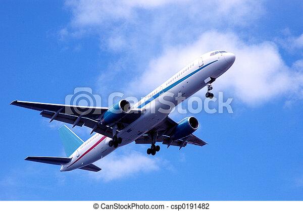 airplane passing - csp0191482