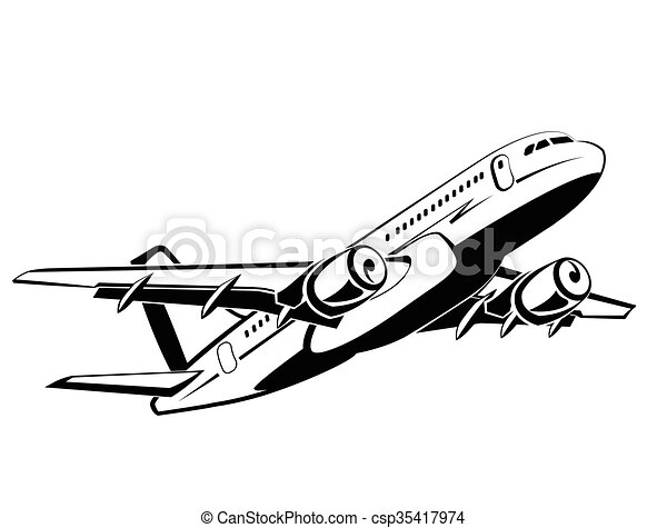 Airlines Airport And Travel Transport Business Economy Class Symbol Icon Vector Design Monochrome Style Hand Drawing