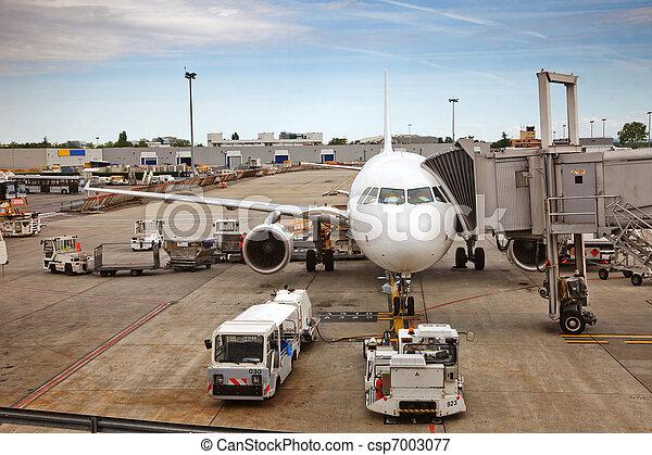 Airplane preparing to the flight - csp7003077