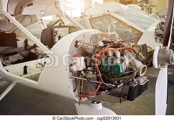 Airplane production, engine. - csp52913931
