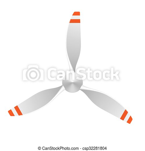 78b756bf5ef0 Airplane propeller with 3 blades.