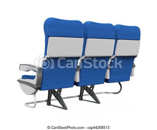 Airplane Seats Isolated - csp44258513