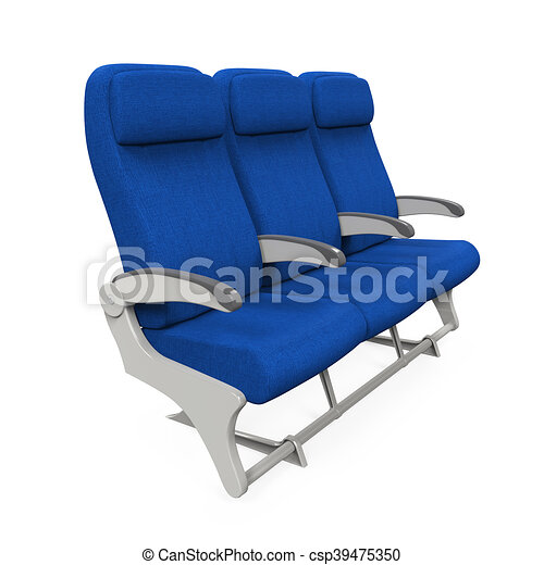 Airplane Seats Isolated - csp39475350
