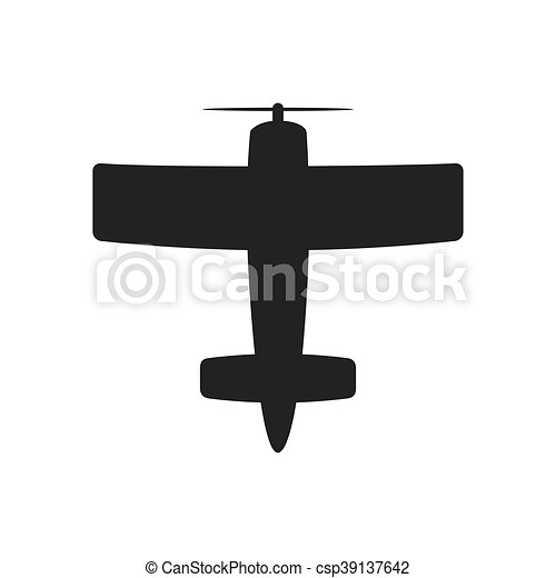 Airplane Silhouette Travel Icon Vector Graphic