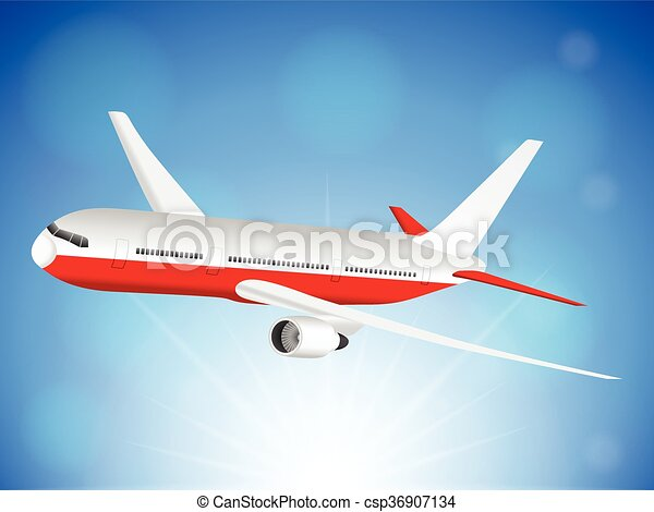 Airplane sky - csp36907134