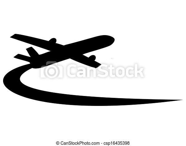 Airplane symbol design  - csp16435398