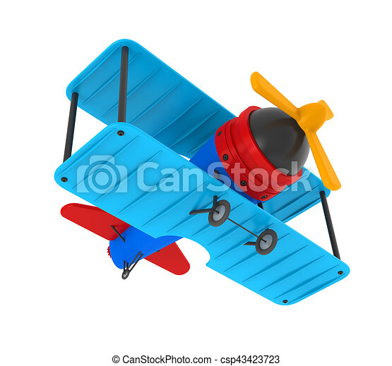 Airplane Toy Isolated - csp43423723