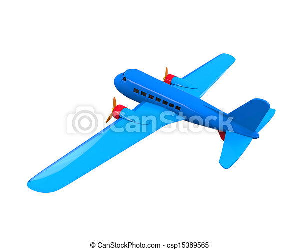 Airplane Toy Isolated - csp15389565