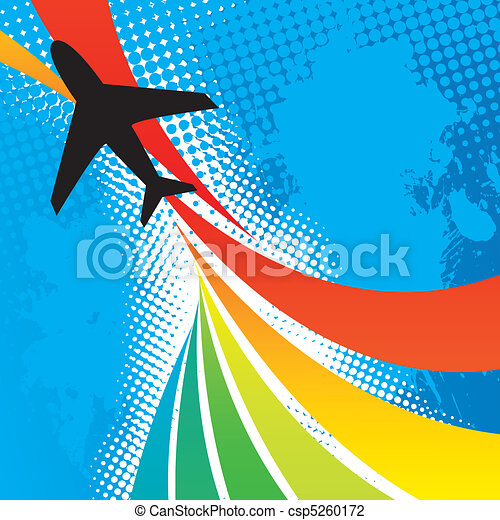 Airplane Travel Abstract - csp5260172
