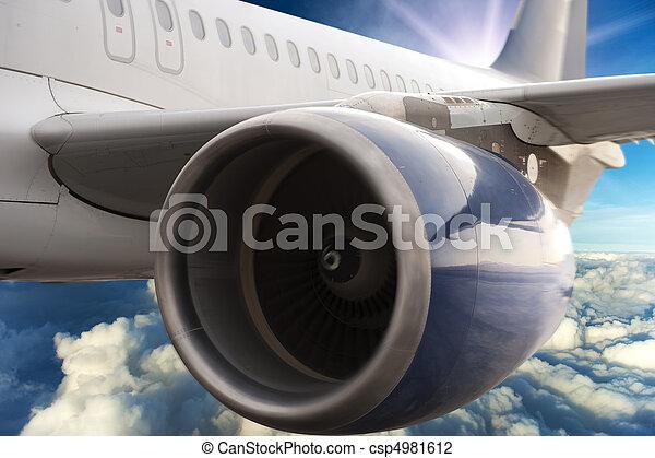 Airplane turbine motor - csp4981612