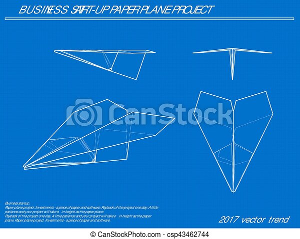 Airplane vector blueprint blue background with grid vector airplane vector blueprint malvernweather Choice Image