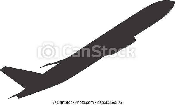 Airplane Vector Icon Aircraft Simple Sign Symbol
