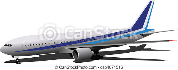 Airplane.  Vector illustration - csp4071516