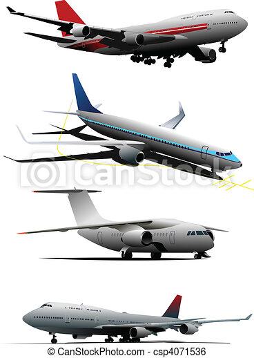Airplane.  Vector illustration - csp4071536