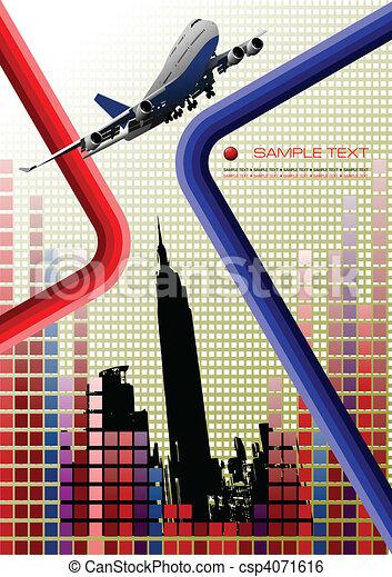 Airplane. Vector illustration - csp4071616