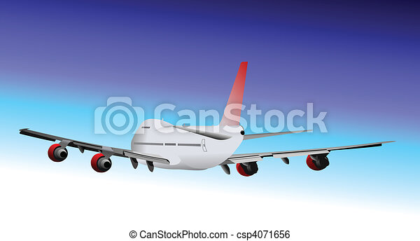 Airplane. Vector illustration - csp4071656
