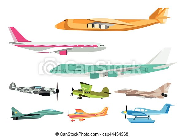 Airplane vector illustration. - csp44454368