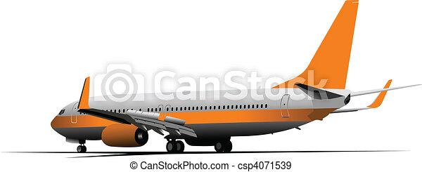 Airplane.  Vector illustration - csp4071539