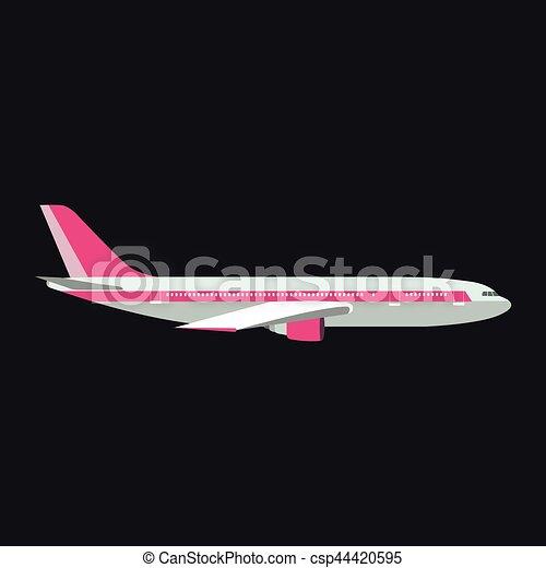 Airplane vector illustration. - csp44420595
