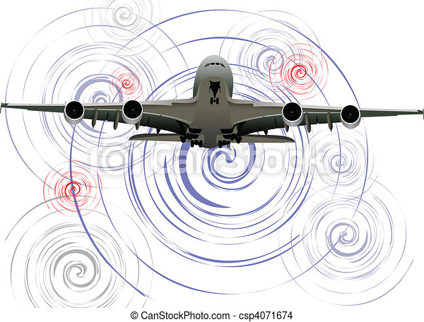 Airplane. Vector illustration - csp4071674