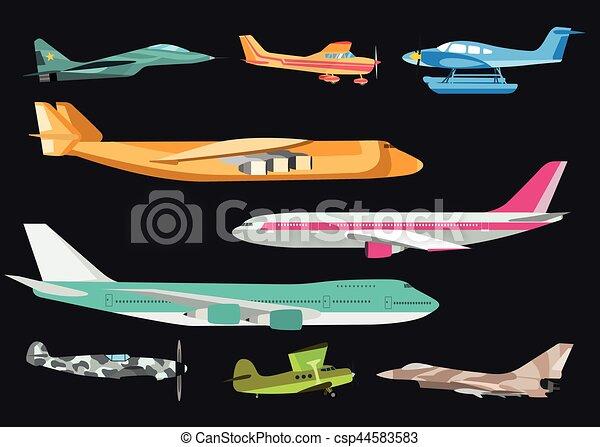 Airplane vector illustration. - csp44583583